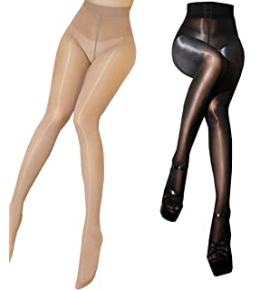 f6d697f621f Super Shiny Footed Tight Oily Bright Shimmery Body Stockings Sexy Pantyhose  8 Denier 912-Pin