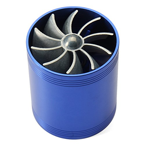 GOZAR Blue Supercharger Power Air Intake Turbonator Dual Fan Turbine Gas Saver Turbo: Amazon.co.uk: Kitchen & Home