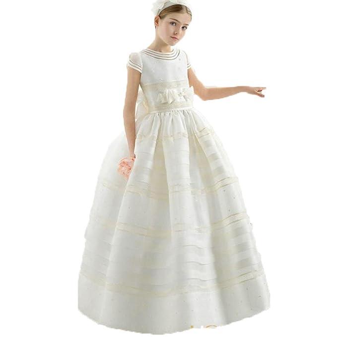 Auxico Bonita Vestidos de las muchachas de flor Vestido de primera comunión Vestidos de fiesta (