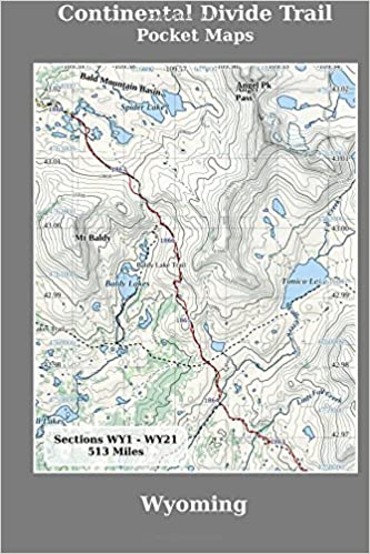 Continental Divide Trail Pocket Maps Wyoming K Scott Parks