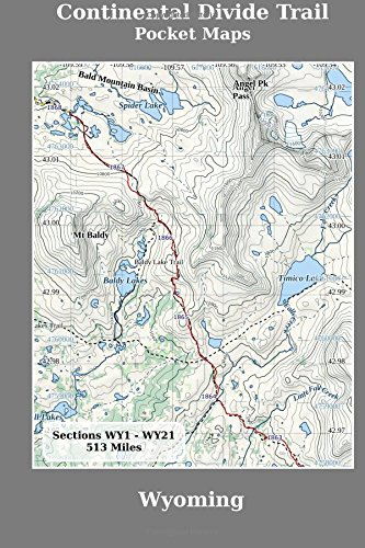 Buy Continental Divide Trail Pocket Maps Wyoming Book Online At