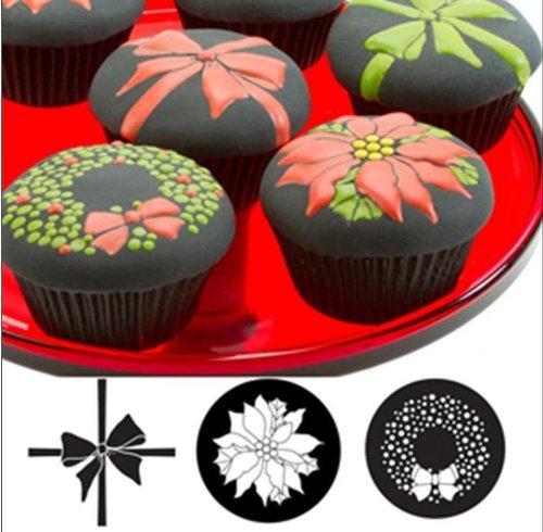 Autumn Carpenter Cupcake and Cookie Texture Tops (Christmas) - 9