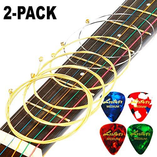 Acoustic Guitar Strings Set 2 Pack Light  Ideal for beginner