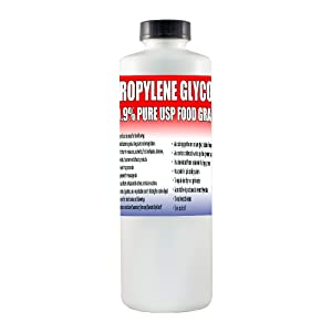 Propylene Glycol USP Kosher Certified 100% Pure Food & Pharmaceutical Grade - Highest Possible Purity - 35 oz. nt. wt. in a 1 Quart Safety Sealed HDPE Container with Resealable Cap