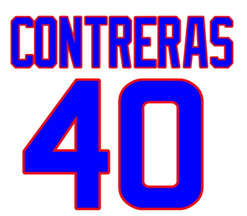 Willson Contreras Chicago Cubs Jersey Number Kit, Authentic Home Jersey Any Name or Number Available