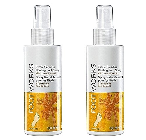2 x AVON Foot works cooling foot & shoe spray ''exotic paradise' Avon Cosmetics