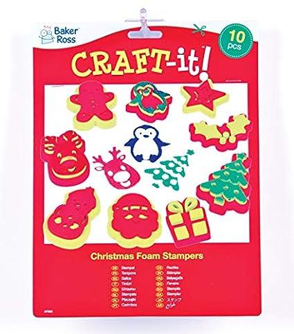 Baker Ross - Sellos navideños Que los niños Pueden Usar para ...