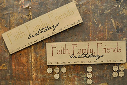 Faith Tag (Faith Family Friends Birthday Calendar - Burgundy)