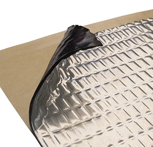 Siless 80 mil 10 sqft Car Sound Deadening mat, Butyl Car Sound Deadener Material, Audio Noise Insulation and Car Sound Dampening mat, Car Sound deadening material, Automotive Sound deadening Bulk Hood (Car Audio 10)