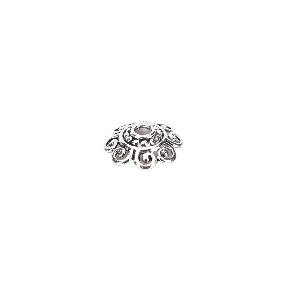 AOWA 100Pcs Tibetan Silver lotus Flower End Bead Caps For Jewelry Craft DIY Jewelry Accessories,12MM