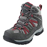 Northside Unisex Freemont Waterproof Hiking Boot Dark Gray/red 4 Medium US Big Kid