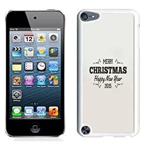 NEW Unique Custom Designed iPod Touch 5 Phone Case With Simple Christmas Greeting Vintage Text_White Phone Case