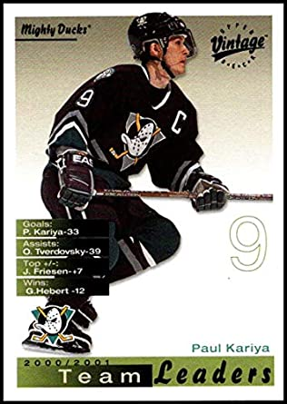 9c1462b8978 Amazon.com  2001-02 Upper Deck Vintage  8 Paul Kariya NM-MT Anaheim ...