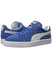 PUMA Men's Suede Classic Fashion Sneakers (7 D(M) US, Olympian Blue-White)