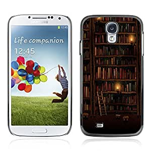 Graphic4You Bookshelves Library Books Pattern Design Hard Case Cover for Samsung Galaxy S4 S IV
