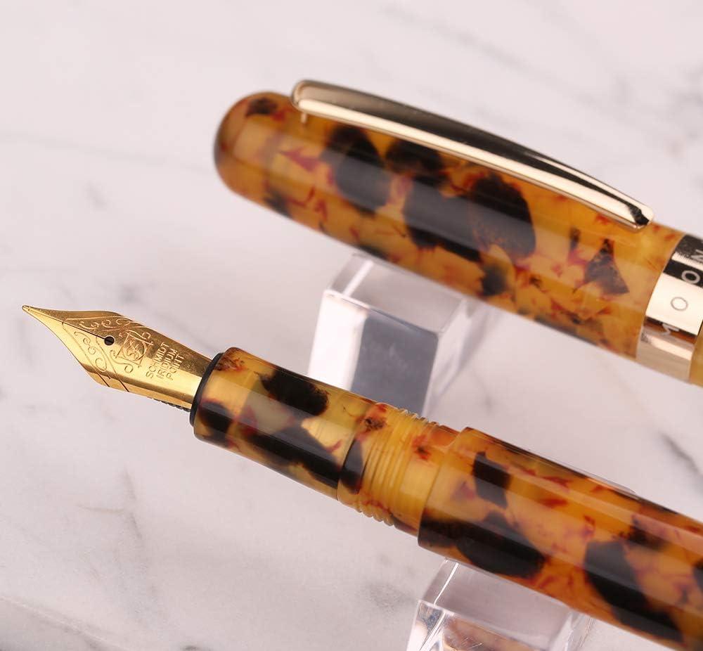 New Launched Moonman M300 Amber Celluloid Fountain Pen Schmidt Iridium Fine Nib