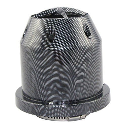 FuriAuto-Universal High Performance 3'' Inch Inlet Cone Dry Flow Air Filter,Carbon Fiber