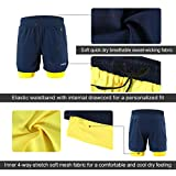 ARSUXEO Men's 2 in 1 Active Running Shorts with 2