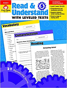 5 Books For Understanding Reading >> Amazon Com Read Understand With Leveled Texts Grade 5