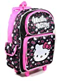 Hello Kitty Bright Pink Trim Canvas Rolling Backpack, Bags Central