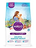 Halo Natural Dry Cat Food, Sensitive Stomach Seafo...