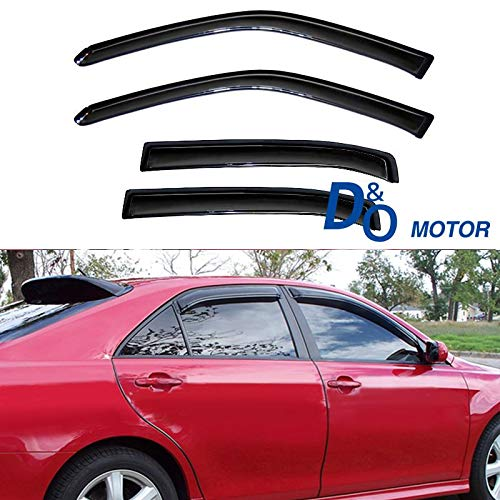 Mgpro 4pcs Dark Smoke Outside Mount Style Sun Rain Guard Vent Shade Window Visors Fit 06-13 Chevy Impala All Models