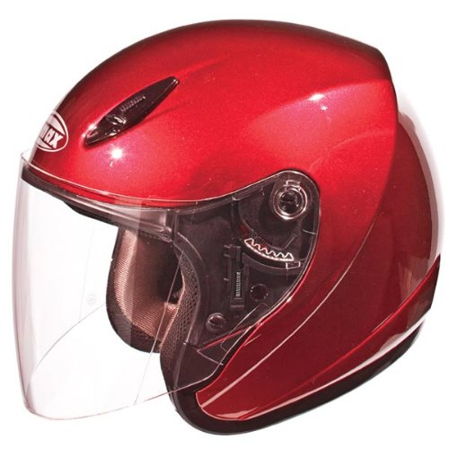 GMAX GM17 Unisex-Adult Open Face Motorcycle/Scooter Street Helmet (Candy Red, XX-Large)