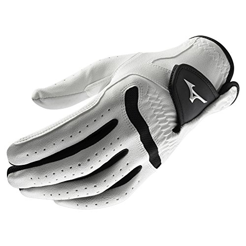 Mizuno 2018 Comp Men's Golf Glove, Left Hand, White/Black, (Black Comp Gloves)
