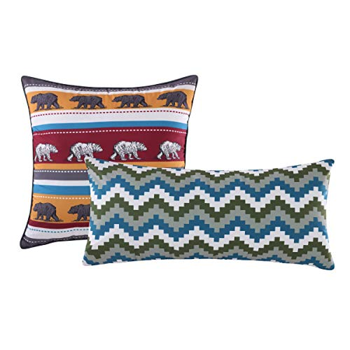 Greenland Home Black Bear Lodge Pillow Set, Brown