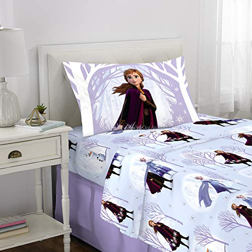 Franco Kids Bedding Super Soft Flannel Sheet Set, 3 Piece Twin Size, Disney Frozen 2 (Frozen Bed Twin Set)
