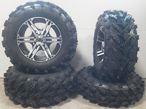 Bundle - 9 Items: ITP SS212 14'' Wheels Machined 27'' Swamp Lite Tires [4x110 Bolt Pattern 10mmx1.25 Lug Kit] by Powersports Bundle