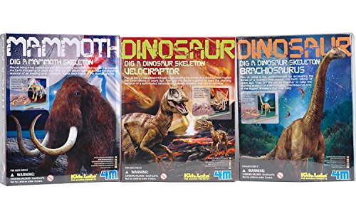 Toysmith Dig A Dino Excavation Kit Series III 3-Pack Dinosaurs