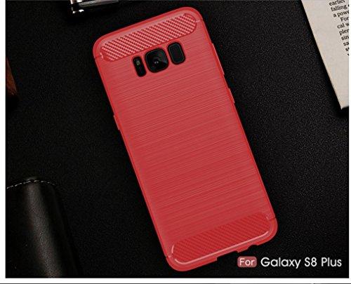 Funda Samsung Galaxy S8 Plus,Alta Calidad Ultra Slim Anti-Rasguño y Resistente Huellas Dactilares Totalmente Protectora Caso de Cover Material de fibra de carbono TPU Adecuado para el Galaxy S8 Plus B