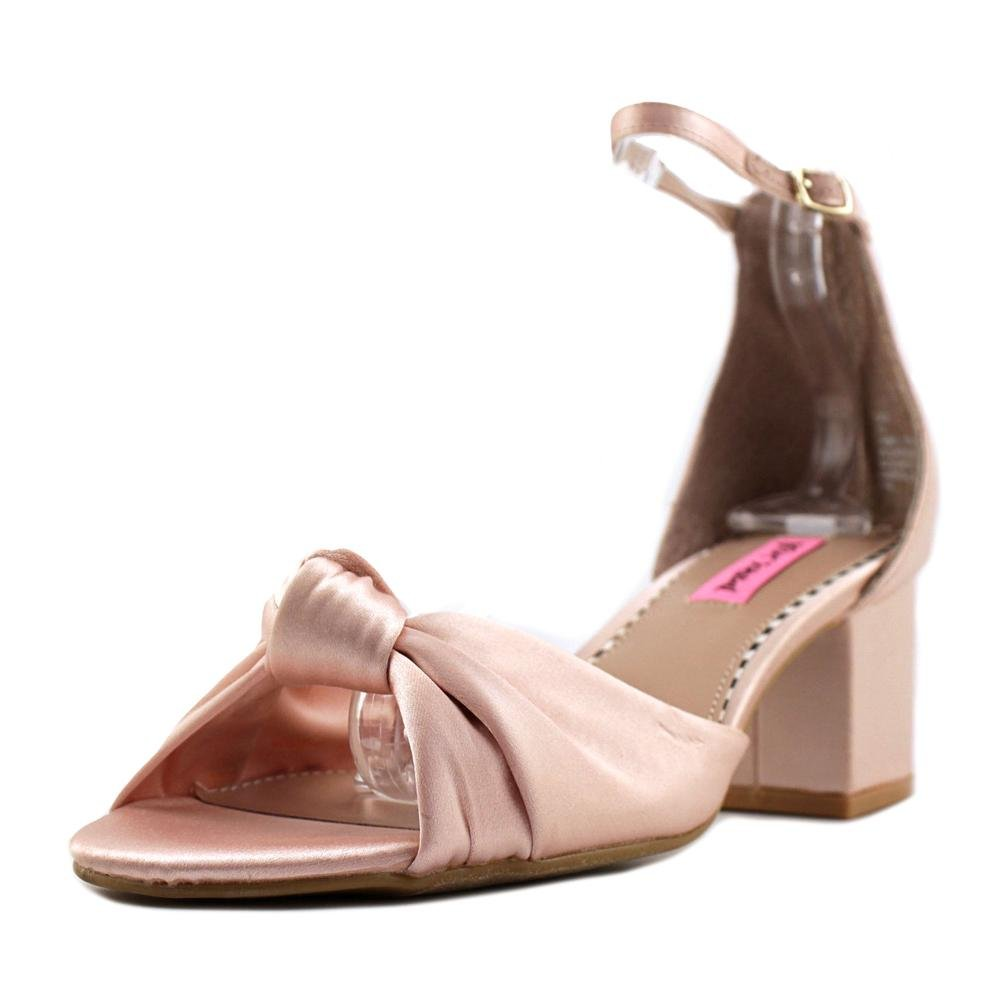 Betsey Johnson Ivee Ankle Strap Sandals, Blush, 8 US
