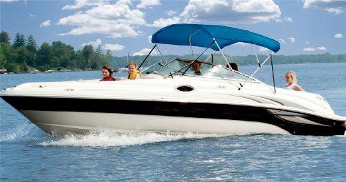 6.25oz Complete Full Boat Bimini TOP Sunshade TOP Set for SEA RAY 240 SUNDECK I/O ()