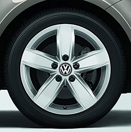 Boxcars Tapacubos Llanta de Aluminio 65mm, Tapa Centro llanta, Compatible Modelo VW: Golf 4 mk4, Golf 5 mk5, Golf 6 mk6, Touran, Pasatt B4 B5 B6 B7, ...