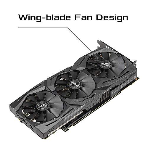ASUS ROG Strix GeForce RTX 2060 Super OC Edition 8GB GDDR6 – Tarjeta gráfica (Ventiladores Wing-Blade, Dual BIOS, SAP II, MaxContact, Estructura Reforzada, GPU Tweak II, Aura Sync, FanConnect II)