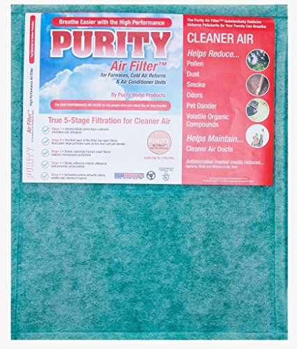 Price comparison product image Purity Air Filter High Performance 5 Stage Air Filter for Furnace and Air Conditioners by Size Fits 16x20x1. Home Air Filtration System to Reduce Dust, Pollen, and Other Household Odors.