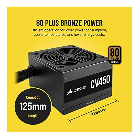 CORSAIR CX Series, CX450, 450 Watt, 80+ Bronze Certified, Non-Modular Power Supply 51b0UgU6mZL. SS555