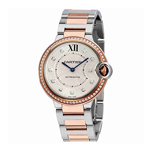 Cartier Ballon Bleu Automatic Silver Dial Ladies Watch W3BB0004
