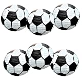 UNIQOOO 6 Pack 12 inch Soccer Football Paper Lanterns-Premium Made, Easy Assemble, Reusable-Perfect for Any Sports Themed Party Banner Hanging, FIFA World Cup Soccer Ball 2018 Party Bar Decorations