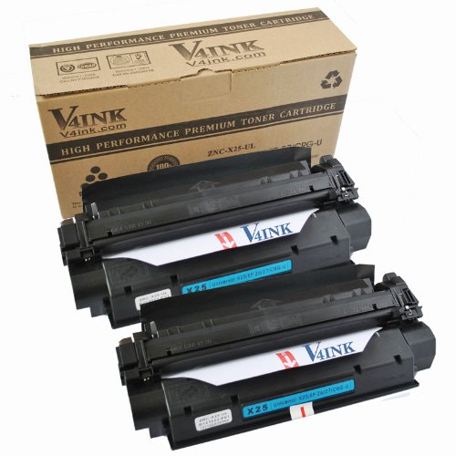 2 Pack V4INK® New Compatible Canon X25 Toner Cartridge-Black (8489A001AA), Office Central
