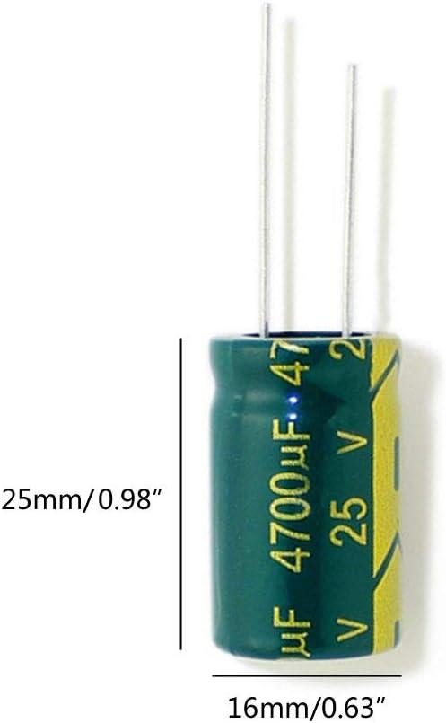 FXCO 4700UF Condensateur /électronique /à Haute fr/équence 25 V 5 pi/èces