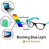 Cyxus Blue Light Blocking Glasses for Kids and Teens, Anti Eye Strain UV Computer Eyewear Clear Lens Blue Frame