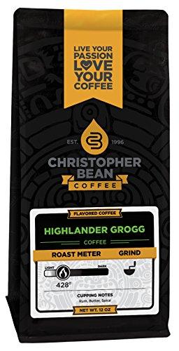 Christopher Bean Coffee Highlander Grogg Whole Bean, 12 Ounce