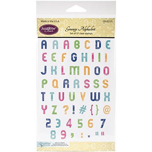 Justrite Papercraft CR02171 Grunge Alphabet Clear Stamp Set, 4 x 6 ()