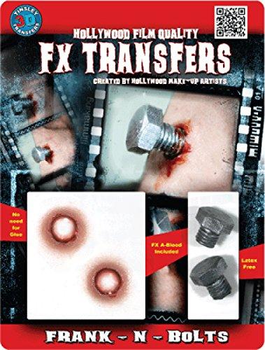 Tinsley Transfers  Frank-N-Bolts, Flesh/Multi, One Size