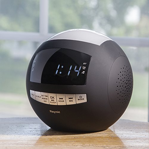 with mk raynic bluetooth digital alarm clock radio am fm with dual usb charging ports and. Black Bedroom Furniture Sets. Home Design Ideas