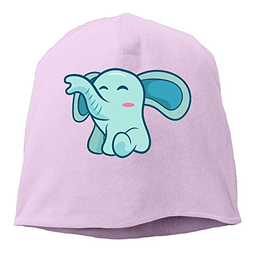 Cute Elephant Mens Winter Warm Knitting Hats Wool Baggy Slouchy Beanie Hat Skull Cap Pink
