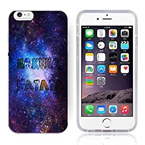 Africa Ancient Proverb HAKUNA MATATA Color Accelerating Universe Star Design Pattern HD Durable Hard Plastic Case Cover for iphone 4s